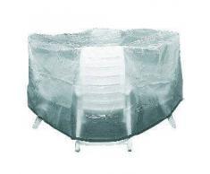 Siena Garden 657090 - Funda protectora de polietileno para sombrillas (200 x 95 cm), transparente