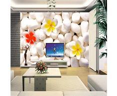YShasaG Mural de Seda Papeles Pintados Papel Tapiz de Flores en 3D Papel de Pared Personalizado Flor de Piedra Adoquín Estilo Chino Papel Tapiz de Pared 3D Dormitorio,396cm*280cm