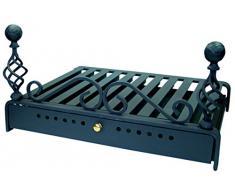 Imex El Zorro 10917 - Parrilla para chimenea con cajón (46 x 36 cm)