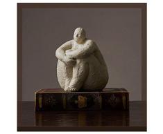 BEIGOO Creativo Estatua,Resina Decoración Moderno Hecha A Mano Personaje Manualidades Simple Escultura Mujer Gorda El Arte Decoracion Familia Regalos-A