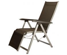 Kettler Basic Plus - Tumbona plegable de aluminio y textilene, color plateado y antracita