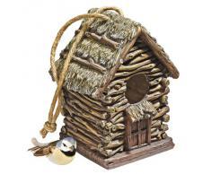 Design Toscano by Blagdon HF330888 - Figura Decorativa (Resina), diseño de casa de pájaros con pájaro