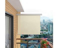 Tidyard Toldo Lateral de Balcón Multifuncional Retráctil de Proporcionar Privacidad y Bloquear la Luz de Resistente a la Intemperie y Anti-UV 200 x 150 cm Crema