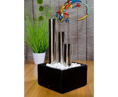 Köhko Tango - Fuente Decorativa con iluminación LED en macetas de Piedra