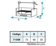 Imex El Zorro 71508 - Cajón barbacoa elevador, parrilla cincada, 63 x 75 x 42 cm, color negro