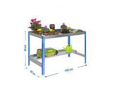 Mesa de cultivo DESK Azul/Galva Simonrack 840x1500x700 mms 600 Kgs de capacidad por estante