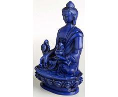 Buda Figuras/Billy Held Estatua, Resin, Azul, 11Â x 7Â x 11Â cm