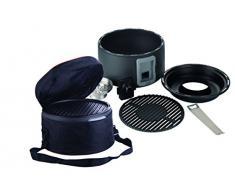 Portátil carbón vegetal Barbacoa de mesa de de Trebs sin humo y Incluye Bolsa de transporte – Ideal para camping, balcón o en casa (batería operativos, tamaño: 35 x 20 cm, 1,25 W)