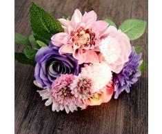 Remos De Novia Novia de la boda de flores artificiales del ramo de la margarita Rose Decoración