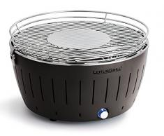 LotusGrill G-AN-435 - Barbacoa de carbón sin humo XL, color antracita