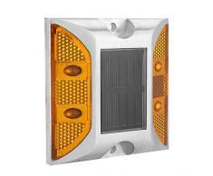 Marcador del pavimento de la carretera del reflector de 2 caras, Reflector de carretera Reflector rectangular de aluminio con LED, Lámpara de alumbrado solar