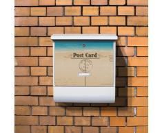 Burg-Wächter buzón con compartimento para periódicos y etiqueta para el nombre y diseño: postal