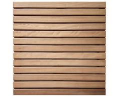Loseta rígida en madera de teca sin tratar - Suelo exterior