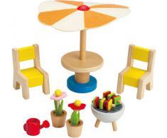 Hape - Set de Muebles de jardín de Juguete