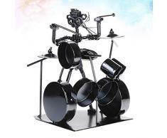 HEALLILY Modelos de batería de metal de escritorio modelo de escultura de colección de figuras de decoración para decoración de navidad
