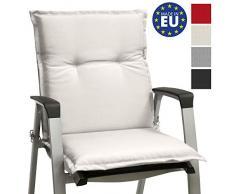 mecedoras o Asientos con Respaldo bajo Base NL 100x50x6 Placas compactas de gomaespuma Beautissu coj/ín para sillas de Exterior tumbonas Natural