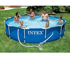 Intex 28212NP Piscina Redonda Metal Frame, con depuradora, 366X76 cm 6503 litros