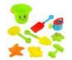 Juguetes para Niños de Cubo de Playa de Arena Conjunto serie de 9