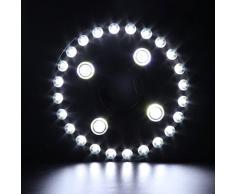 ledmomo sombrilla iluminación Patio Umbrella Light 28 LED luces de 3 Modes batería Alimentado por para camping acampa Outdoor