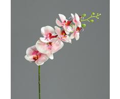 Orquídea Phalaenopsis con 7 flores de color rosa-crema 83 cm de la flor artificial por DPI