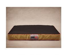 Colchón de HOBBYDOG MATFZC4 Hundebett perros de colchón para perros y funda de almohada de perros de mate de sueño de espacio (3 tamaños diferentes), negro, XL (110 x 90 cm)