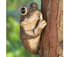 bits y Piezas - Callar Rana Árbol Peeker - Durable Polyresin Animal Tree-Hugger Escultura - césped y jardín al Aire Libre decoración Estatua