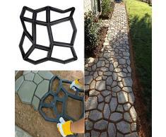 Molde para hormigón, molde de encofrado, molde de plástico para hormigón, jardín, caminos, piedras, parches de piedra natural, adoquines, placas de terraza