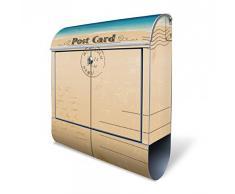 banjado - Buzón acero inoxidable Pared de 38 x 43,5 x 12,5 cm Calidad 18/0 Buzón con diseño postal
