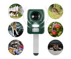 Gardigo Repelente Solar Ultrasónico - Recargable y a Pilas - Ahuyentador por ultrasonidos de perros, gatos, aves, zorros, martes y mapaches