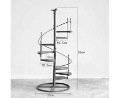 Escalera de 8 niveles Estanterías de flores Estantería de metal de hierro Estantería Tabla de madera para macetas de plantas Estantes de soporte Estantería de soporte Estantería de almacenamiento de jardín para la sala de