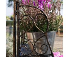Plant Theatre - Estantería metálica para hierbas y flores, diseño tradicional, color bronce