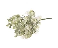 5 Ast seda ramo de las flores de césped artificial para la decoración casera Navidad, Verde 1