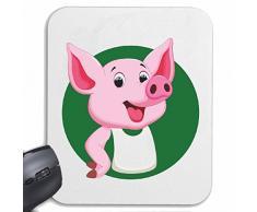 "Mousepad alfombrilla de ratón ""Cerdo cerdo doméstico cerdo de barbacoa Glücksschwein domésticos PIG BOAR COCHINILLOS"" para su portátil, ordenador portátil o PC de Internet .. (con Windows Linux, etc.) en White"