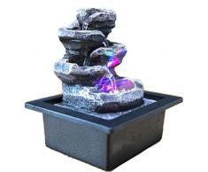 Fuente de agua interior Feng Shui Little Rock 23 cm con led multicolor