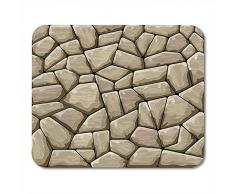 QDAS Alfombrillas de ratón Arcilla Roca Marrón Muro de Piedra Material de ladrillo Adoquín Alfombrilla de ratón Antigua para portátiles Ordenadores Alfombrillas para ratón Suministros de Oficina