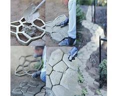 MOLDG Molde de Pavimentación de DIY / molde del azulejo del piso para su jardín, patio, piscina etc. 43.5 * 43.5cm 2pcs