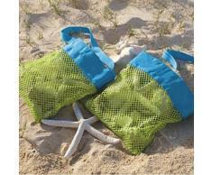 Highdas para niños juguetes de playa Recibe bolsa de malla Areneros Arenero infantil Lejos de almacenamiento de Shell neto de la bolsa