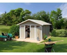 Caseta de jardín PVC, 11 Utility m², color azul