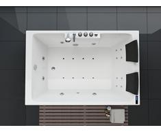 Bañera de hidromasaje de lujo con equipo completo (masaje) (180 x 120 cm)