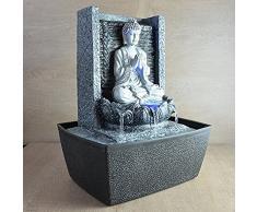 Fuente de agua interior Feng Shui Buda Meditando 26 cm con led multicolor