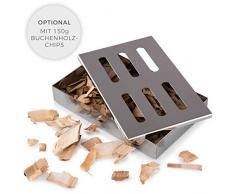 Blumtal Caja De Ahumar | Ahumador | Smokerbox De Acero Inoxidable | para Gas, Carbón Y Leña | Apta Lavavajillas | Accesorios para Barbacoa | Utensilios De Cocina para Principiantes Y Expertos
