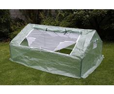 Gartenfreude - Caseta de invernadero, plástico, 180 x 140 x 80 cm