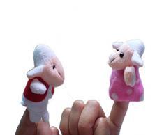 9 unds Marionetas de dedo para escenificar el cuento de la oveja y el lobo fomentar imaginacion, escenificar, vocalizar, expresión teatro regalo buenas notas, cumpleaños, fin curso.. de CHIPYHOME