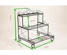 Dipamkar® Vintage Metal Planta/Flor Stands soporte puestos Jardín/estante de planta para uso en interiores y exteriores.