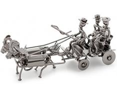 Brubaker boda Carruaje metal Kleine Escultura con tarjeta de regalo
