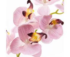Orquídea Phalaenopsis MINA en maceta, tres ramas, rosa, 45 cm - Planta artificial / Orquídea sintética - artplants