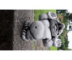 piedra figuras aprox. 7000 Talla difícil gnomo gollom con sacando Enanos Enanos de jardín