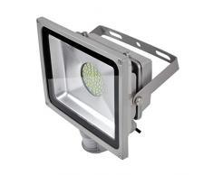 PrimLight Foco con Sensor de Movimiento 6X 50W,SMD Iluminación Led de Seguridad,Focos de Exterior con detector PIR,SMD Proyector Ahorro de Energía,Impermeable IP65 para Jardín, Patio,Blanco Frío