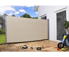 Toldo lateral 'Pro' Privacidad Protección solar Protección contra viento varios tamaños y colores - beige, 160 x 300