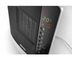 DeLonghi DCH7093ER calentador de ambiente - Calefactor (220 - 240V, 50/60 Hz) Negro, Color blanco